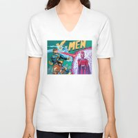 x men V-neck T-shirts featuring X-Men! by thechrishaley