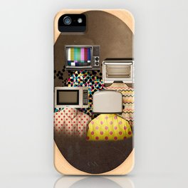 Vintage Machine People iPhone Case