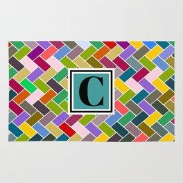 C Monogram Rug