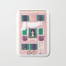 Afternoon in Burano Bath Mat
