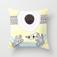 minion Throw Pillows featuring minion by di yirou