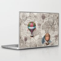 hot air balloons Laptop & iPad Skins featuring Hot Air Balloons by Color and Form