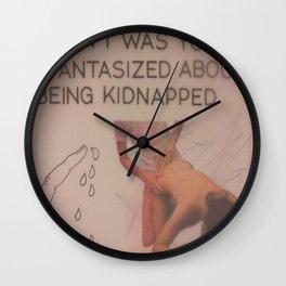 KIDNAPPED Wall Clock