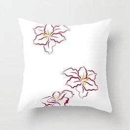 Poinsettia - white Throw Pillow