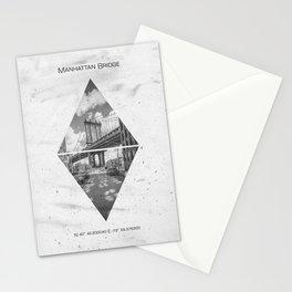 Coordinates NEW YORK CITY Manhattan Bridge Stationery Cards