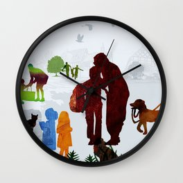 Children and Parents Wall Clock