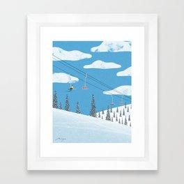 Ski slope Framed Art Print
