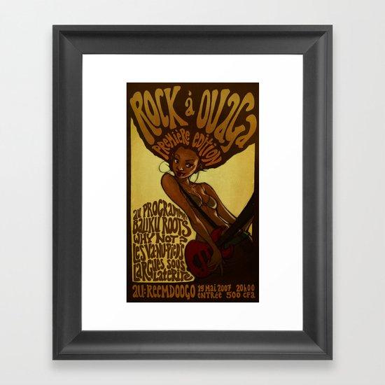 Rock á Ouaga Framed Art Print