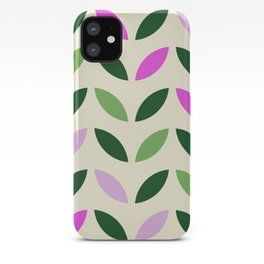 Leaves & Petals - Pink & Green iPhone Case