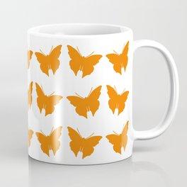 Orange Bold Mod Butterflies Coffee Mug