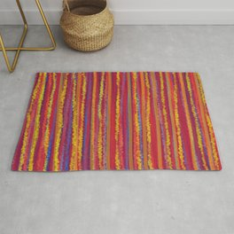 Stripes  - Cheerful yellow orange red and blue Rug