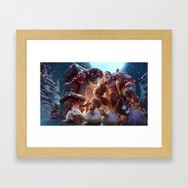 Santa Braum League Of Legends Framed Art Print