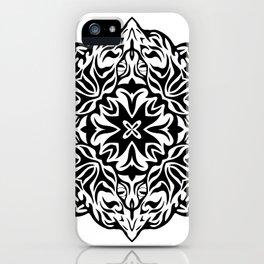 Polynesian style tattoo mandala iPhone Case