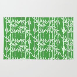 Bamboo Rainfall in Sullivan Green/White Rug