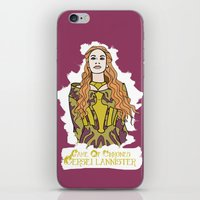 lannister iPhone & iPod Skins featuring Cersei by JessicaJaneIllustration