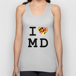 I Heart MD Unisex Tank Top