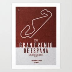2013 Spanish Grand Prix Art Print