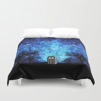 fandom Duvet Covers featuring Lonely Tardis Doctor who Art painting iPhone 4 4s 5 5c 6, pillow case, mugs and tshirt by Three Second