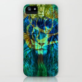 Lion Tree at Night Tapestry Style iPhone Case