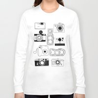 cameras Long Sleeve T-shirts featuring Cameras by lusym