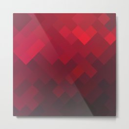 Geometry Red Underground Metal Print