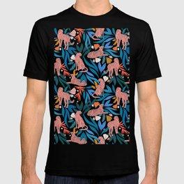 Cheetah jungle/tropical print T-shirt