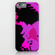 Fuchsia and black abstract Slim Case iPhone 6s