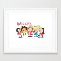 spice girls Framed Art Prints featuring Spice Girls Kids by The Drawbridge