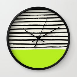 Electric Pineapple x Stripes Wall Clock