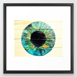 AQUA GREEN IRIS Framed Art Print
