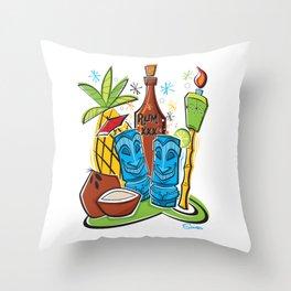 Tiki Hawaiian Happy Hour by Art of Scooter Throw Pillow