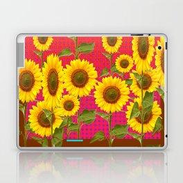 BROWN SUNFLOWER FIELD SAFFRON GRAPHIC ART Laptop & iPad Skin