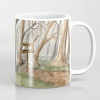 middle earth Mugs featuring Middle Earth by Jeff Moser Watercolorist