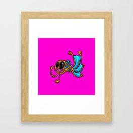 Harry The Angler Cartoon Fish Framed Art Print