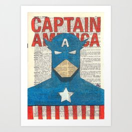Book Page Captain Art Print