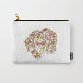 Iced Flower Hearts Carry-All Pouch
