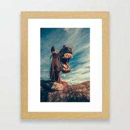 Horse smile Framed Art Print