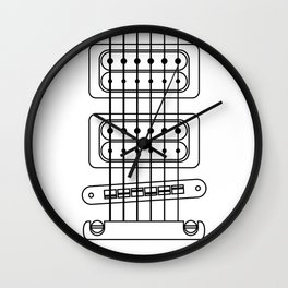 Heart Strings Guitar Wall Clock