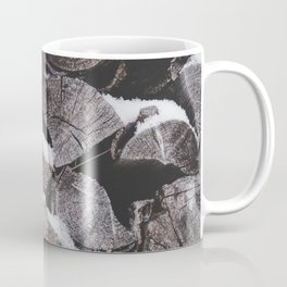 Snowy Wood Pile Coffee Mug