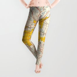 Denver map year 1958, old map, us maps, usa maps, vintage maps Leggings