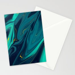 Gold Veins Stationery Cards