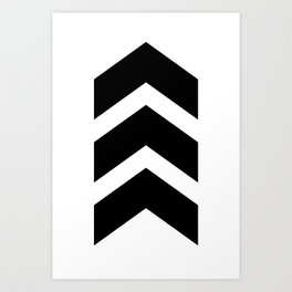 Classic Chevron Arrow Art Print