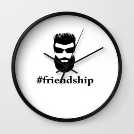 #friendship Wall Clock