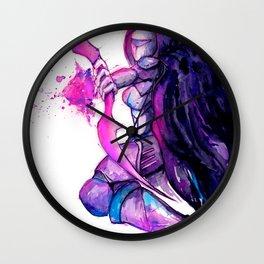 Nightstalker Traditional Fan Art Wall Clock
