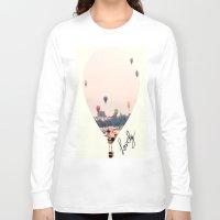 balloons Long Sleeve T-shirts featuring Balloons  by Bê Machado