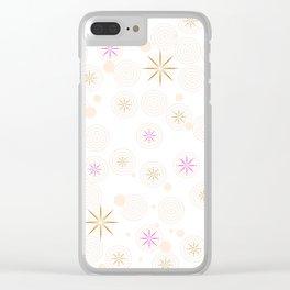 Magic Stars Clear iPhone Case