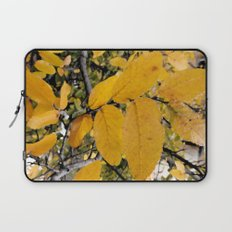 Yellow Leaves of Autumn Laptop Sleeve