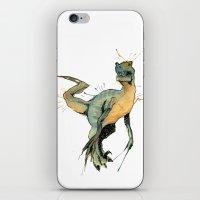 dinosaur iPhone & iPod Skins featuring Dinosaur by Nicola Girello