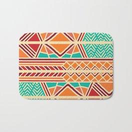 Tribal ethnic geometric pattern 027 Bath Mat