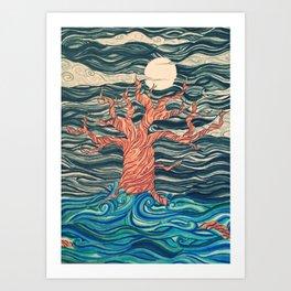 Strokes of Night Art Print